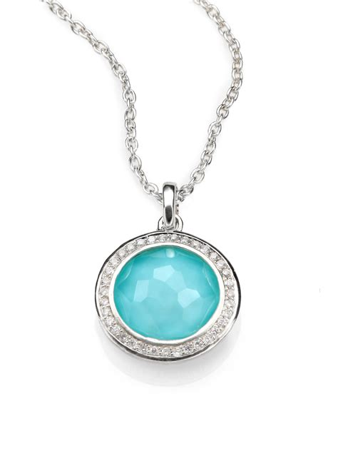 pendant jewelry ippolita turquoise doublet sterling silver