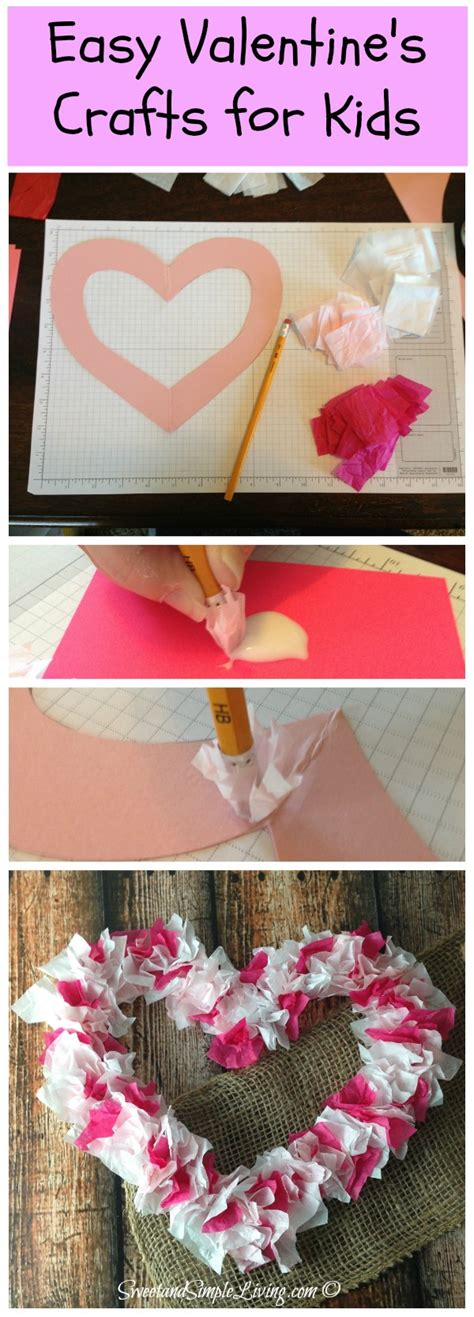 paper crafts for teenagers valentines crafts for tissue paper sweet and