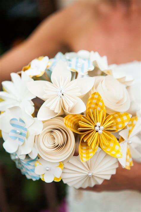 origami flower wedding bridal bouquet paper flowers kusudama origami roses