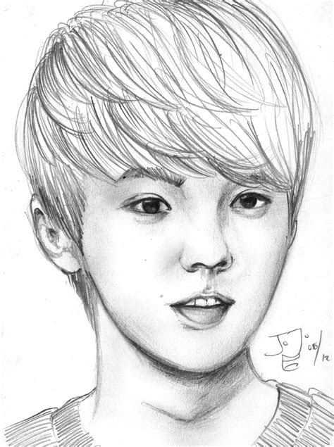 Pencil Artwork Images by Exo M Luhan Pencil Sketch By Takojojo15 On Deviantart