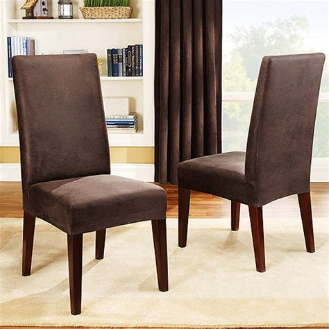 chair covers for dining room chairs sure fit stretch leather dining room chair cover brown