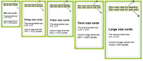card sizes for card card dimensions design