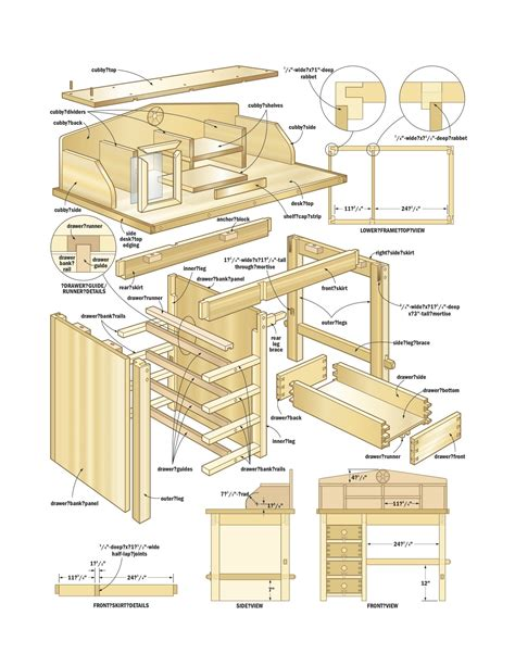 woodworking plan desk woodworking plans woodshop plans