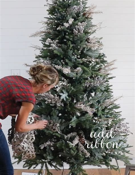 ribbon on the tree remodelaholic how to decorate a tree in 5
