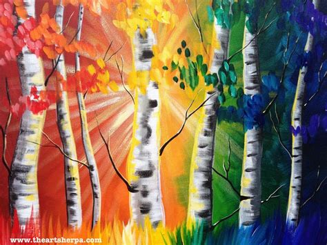 acrylic painting forest tutorial 1000 bilder zu the sherpa lesson gallery auf