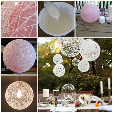 diy decorations for wonderful diy lighted yarn decoration