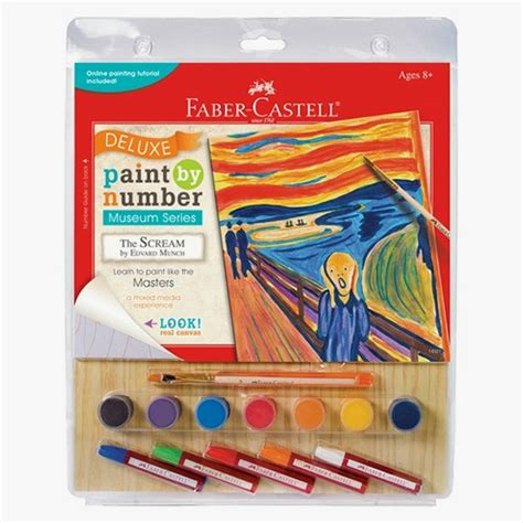acrylic paint faber castell faber castell paint by number the scream smart toys
