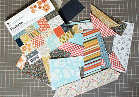 patterned craft paper make paper embellishments with your scraps