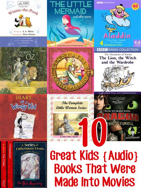 pictures into books 10 popular audio books that were made into