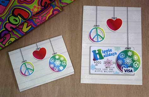 free printable hippie holidays gift card holder gcg