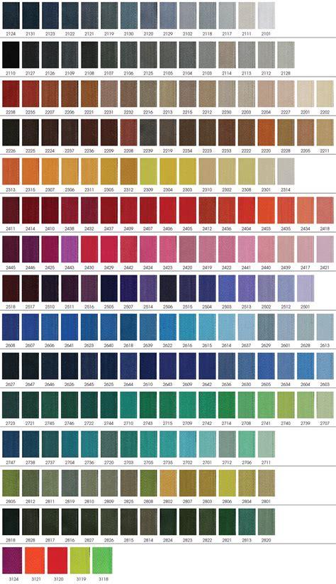 Earth Tone Color Wheel riri zipper color chart