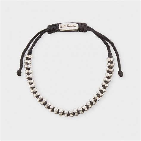 black bracelet paul smith black and silver beaded bracelet in