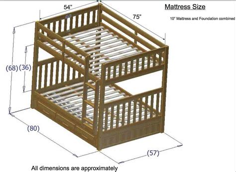 dimensions of bunk beds discovery world furniture merlot bunk beds