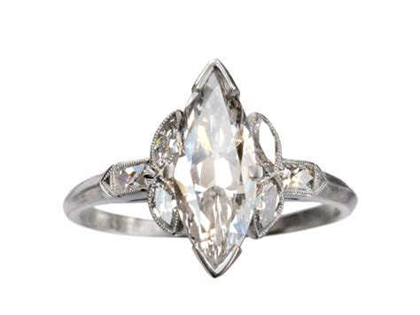 1920s deco marquise ring erie basin