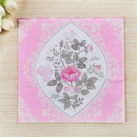 decoupage napkins wholesale 20pcs 33 33cm 100 wood tissue 2 layer flower paper