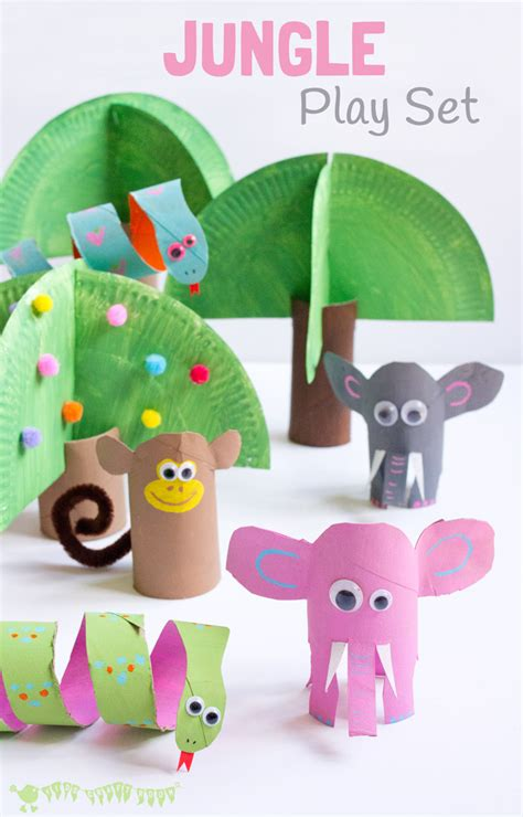 crafts for small jungle playset from toilet paper roll crafts