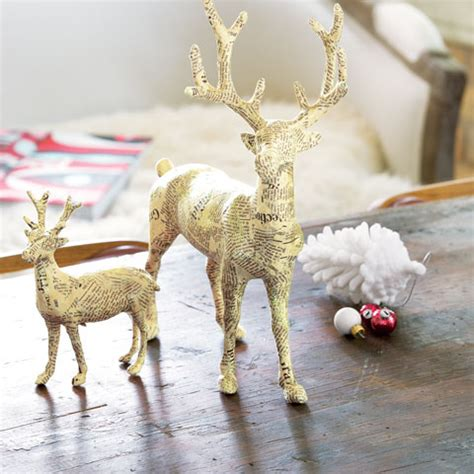 paper mache reindeer craft papier m 226 ch 233 reindeer all gifts sale olive cocoa