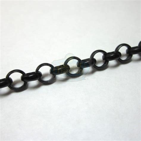 chain with black matte black 6mm rolo chain