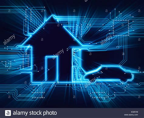 home automation technology connected house and electric car future home automation