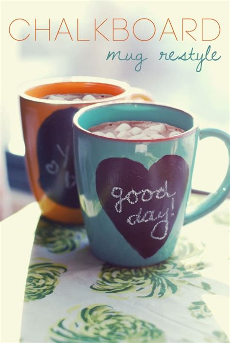 diy chalkboard coffee mug chalkboard mugs ideas chalkboards