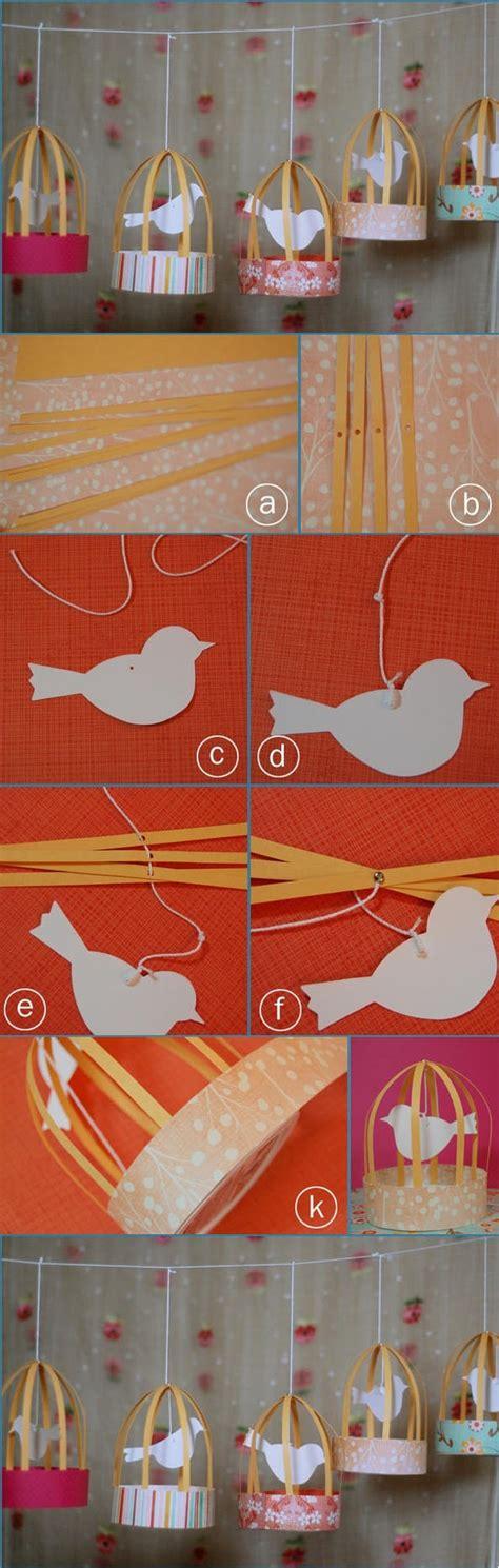 paper bird cage craft diy paper bird diy crafts craft birds
