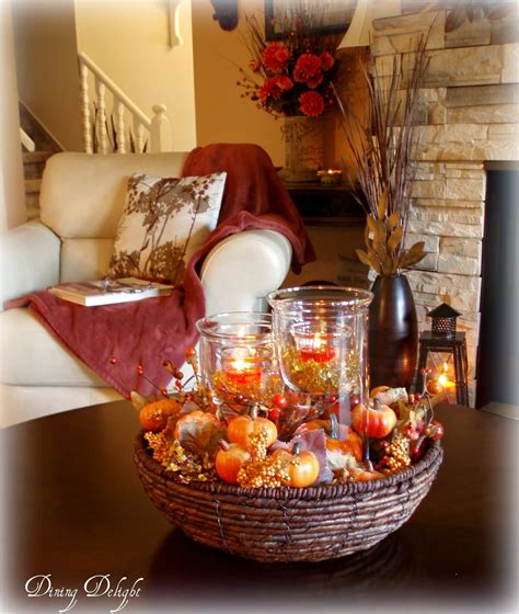 coffee table centerpieces dining delight fall coffee table centerpiece