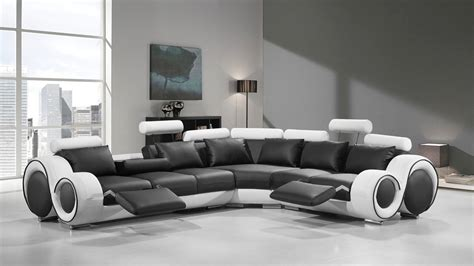 sectional sofas modern modern leather sectional sofa with recliners