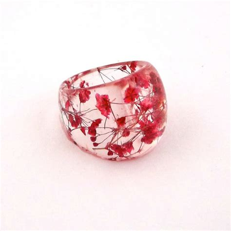how to make resin jewelry with flowers resin ring pressed flower resin jewelry cocktail ring