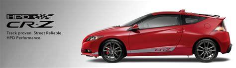 Honda Crz Hpd by Honda Cr Z Hpd Bient 244 T Avec 190 Ch Vid 233 O