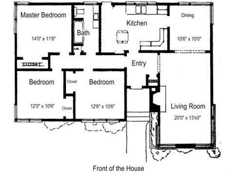 simple 3 bedroom house plans simple house plan with 3 bedrooms house floor plans