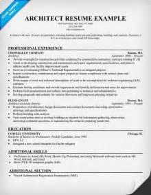 architect resume resumecompanion com resume samples