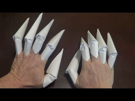 how to make origami finger claws origami claws tutorial finger claws