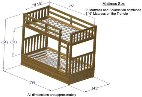 what are the dimensions of a bed discovery world furniture honey mission