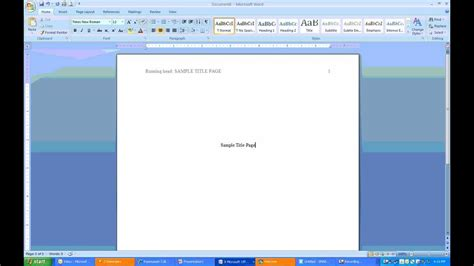 how to make a page how to create apa headers and title page using ms word