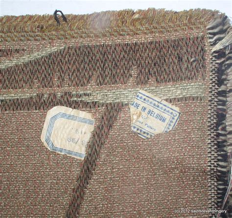 rubber st tapestry antique belgium tapestry gentlemen flower cart