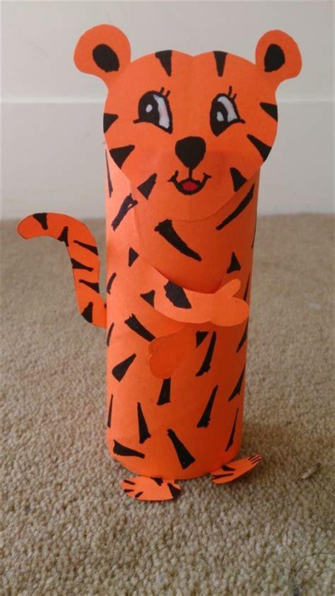 toilet paper roll crafts animals toilet roll tiger my kid craft