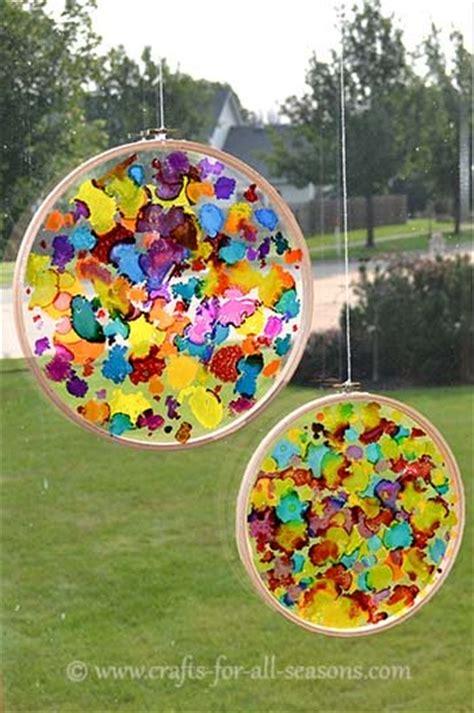 suncatcher craft for create a colorful sun catcher craft