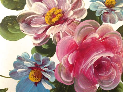 one stroke flowers painting toleware beautiful at any price janvier road where
