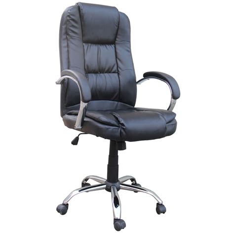 Desk Chairs by Homegear Pu Leather Executive Wheeled Computer Desk Chair