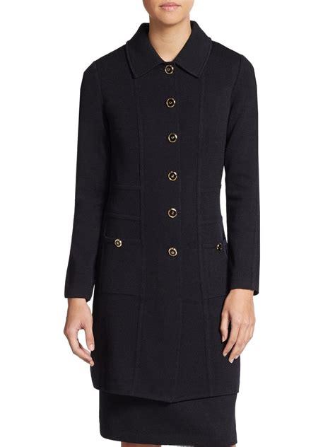 st santana knit jacket st santana knit jacket in black lyst