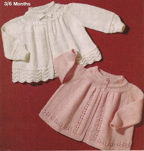baby knitted jackets knitted baby matinee coat jacket cardigan knitting pattern