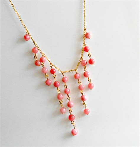 diy beaded necklace diy statement beaded bib necklace desperate houselife
