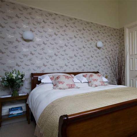 butterfly bedroom feminine bedroom statement wallpaper