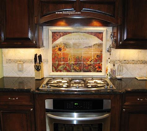 kitchen backsplashes pictures about our tumbled tile mural backsplashes and accent