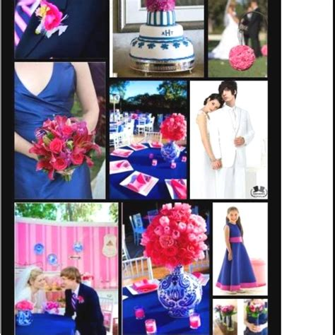 royal color scheme wedding color scheme royal blue and bright pink