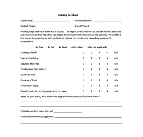 sample survey templates sample feedback survey template 8 free documents in