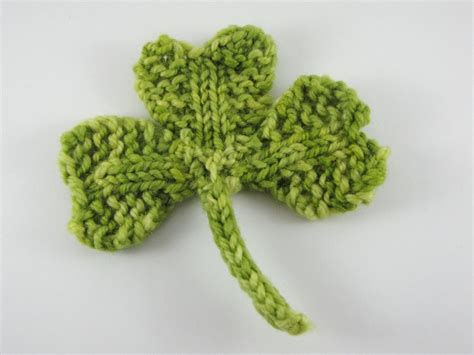 what is st st in knitting shamrock clover knitting pattern for st s day
