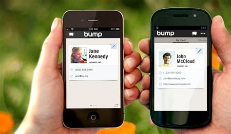 app for business cards bump instantly exchange business cards with a