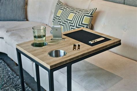 slide sofa tray table modern tv tray tables and fabulous ways to use them