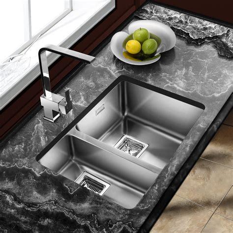 kitchen sinks 1 5 bowl astini vico 1 5 bowl silk stainless steel undermount